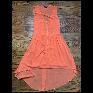 Bebe Orange Hi Lo Dress